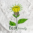 Eco friendly light bulb plant growing green and eco energy conc — Stock Photo #51300405