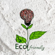 Eco friendly light bulb plant growing green and eco energy conc — Stock Photo #51300431