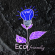 Eco friendly light bulb plant growing green and eco energy conc — Stock Photo #51300559