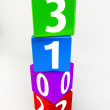 Vertical Located Numbered Boxes showing the new year of 2013 — Stock Photo