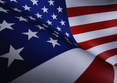 American Flag Waving Close Up Illustration — Stock Photo