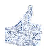 Social Media Concept Vector Word Cloud — Stock Vector
