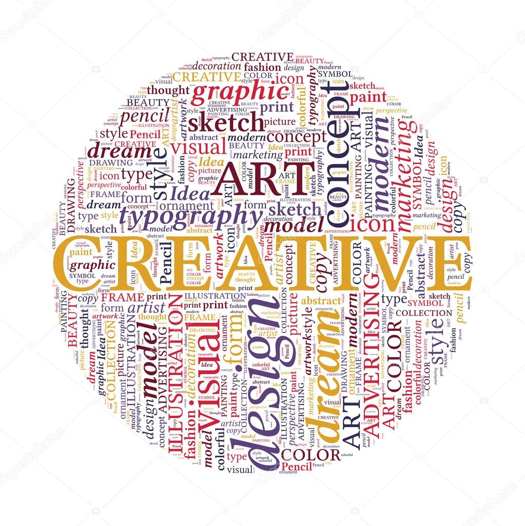 Creative Design Concept Colorful Word Cloud In Circle Stock Vector Grasycho 23012510