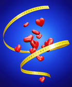 Reducing Heart Attack with Diet Concept Illustration — Stock Photo