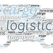van formade transport och logistik koncept i word cloud — Wektor stockowy  #46738319