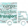 van formade transport och logistik koncept i word cloud — Stockvektor  #46738697