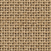 Seamless (Tileable) Fabric Jute Texture Pattern Closeup — Stock Photo