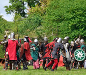 Battle of medieval knights — Stock Photo