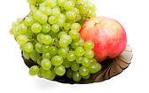 Grape and apple — Stock Photo