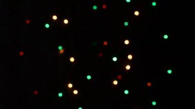 мигающие цветные огни — Стоковое видео