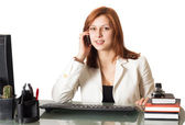 Woman calling on the phone — Stock Photo