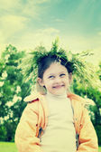 Child in grass  — Stock Photo