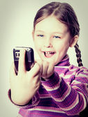Child and phone  — Stock Photo