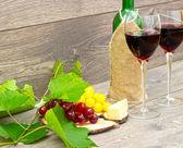 Uva e vino rosso — Foto Stock