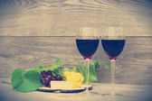Still-life with red wine — Stock Photo