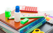 Set for school hours on a white background isolated  — Stock Photo