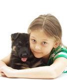 Child and dog — Stock Photo
