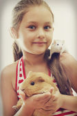 Child and rodents — Stock Photo