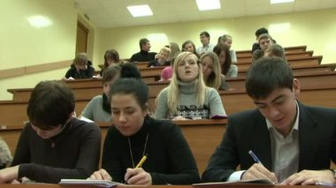 Students in a lecture — Stock Video