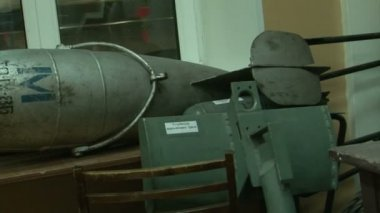 Torpedoes and underwater mines. — Stock Video