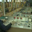 Man working on the control panel in the industry — Stock Video