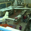 Stok video: Excursion to Museum of Aviation