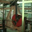 Stock Video: An industrial background. Machine, mechanism