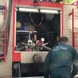 Stock Video: Maintenance inspection of fire truck