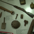 Stock Video: Museum is showcase with weapons