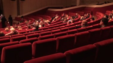 Lot of gathering in cinema hall — Stock Video