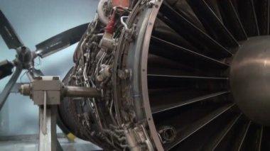 Turbojet aircraft engine — Stock Video