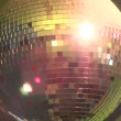Luminous disco ball on turn — Stock Video