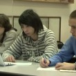 Students at a lecture in the classroom. — Stock Video