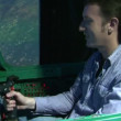 Stock Video: Aviation simulator
