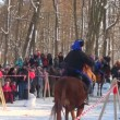 Cossacks on horses — Stock Video