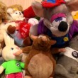 Stock Video: Heap of children's toys