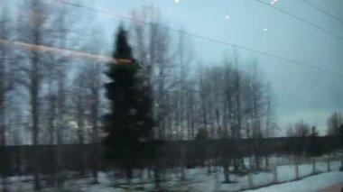 Train travel — Stock Video
