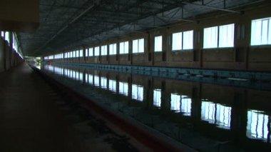 O pool de teste para modelos de navios. — Vídeo Stock