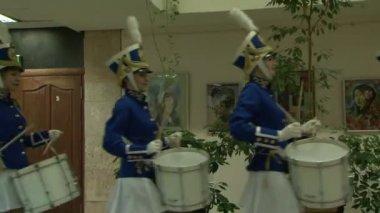 Drummer girls — Stock Video