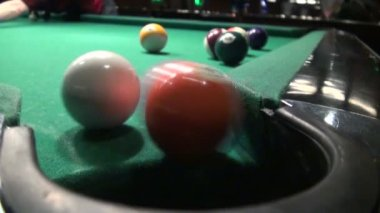 The cue ball is pocketed — Stock Video