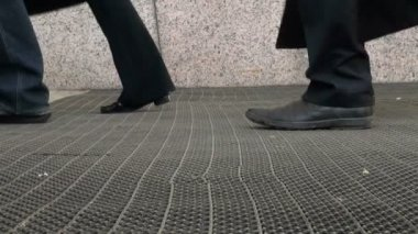 The feet of pedestrians, and passers- by — Stock Video