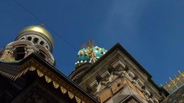 在溅出的血大教堂救主。圣彼得斯堡 — 图库视频影像