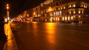 City street night — Stock Video