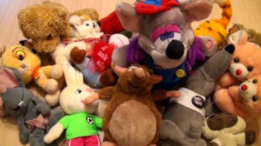 Heap of children's toys — Stock Video