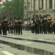 Stock Video: Military orchestra