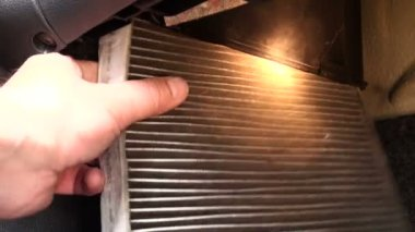 Cabin filter car — Stockvideo