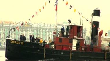 Старый пароход — Стоковое видео