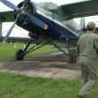 Stock Video: AN-2 aircraft on airfield