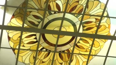 The ceiling, stained glass — Stockvideo