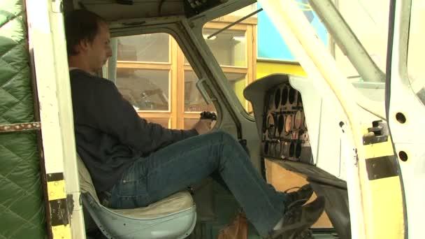 Simulador de aviación — Vídeo de stock
